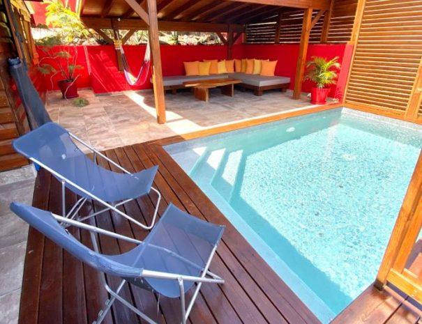 La piscine du gîte le Baliste
