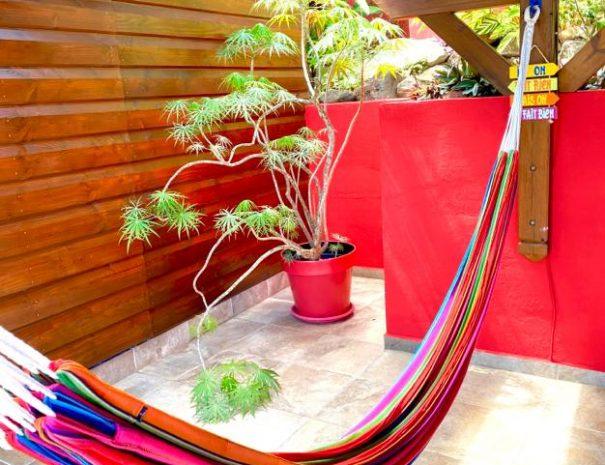 Sieste dans le hamac - Gîte le Baliste