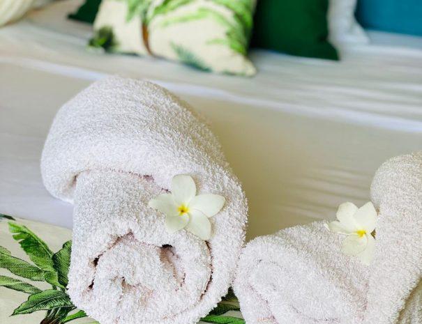 Vos serviettes de douche le temps de votre séjour aux gîtes Entre2ô