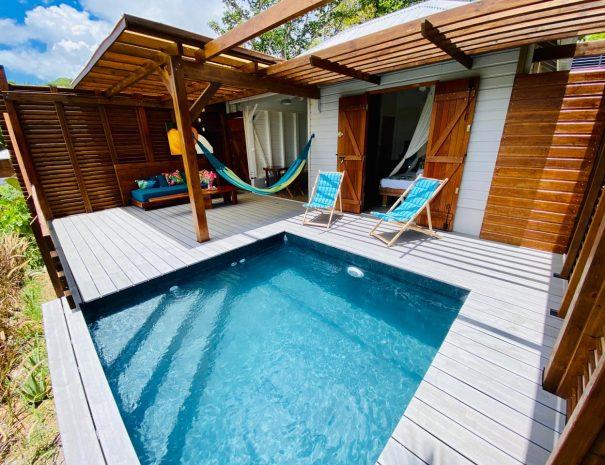 La piscine du gîte le Mahi-Mahi