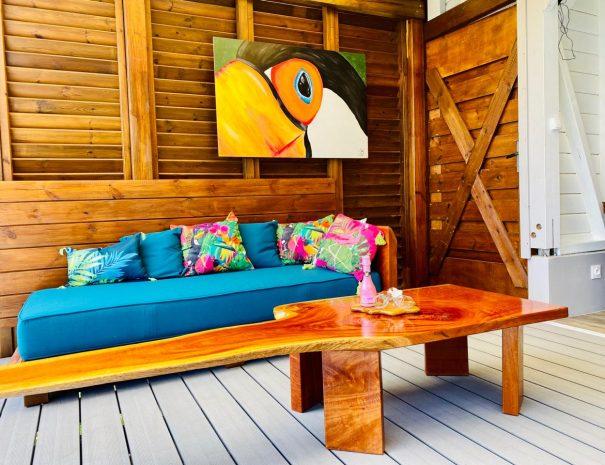 La magnifique table de salon fait maison par l'artiste Romaric